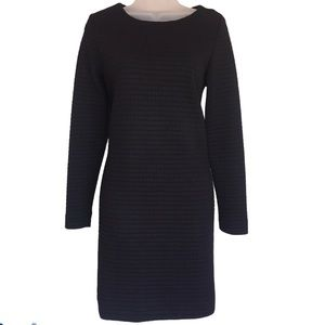 Katherine Barclay Black Quilted Sweater Dress